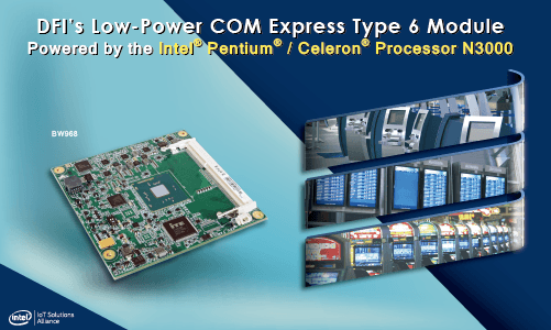 Cost-Effective Intel® Pentium®/Celeron® Processor N3000-based COM Express Compact for Embedded Systems