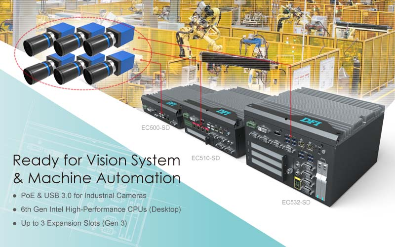 High-Performance Fanless Embedded Systems for Machine Vision